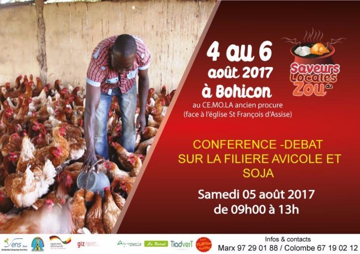 Gastronomie béninoise saveurs locales du zou conférence débat filière avicole