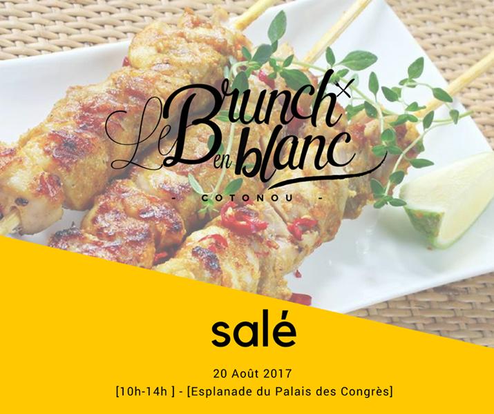 Food Event Le Brunch en Blanc ce 20 août à Cotonou Salé
